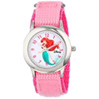 Kids' W000958 Ariel Stainless Steel Watch with Pink Nylon Band