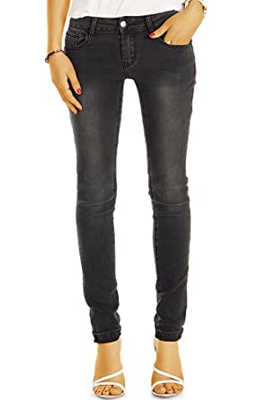 00ff33b038b7 bestyledberlin Damen Jeans, Slim Fit Basic Jeanshosen, Enge Stretch  Hüftjeans j33l  Amazon.de  Bekleidung