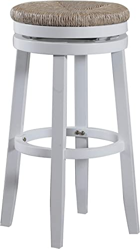Powell Morgan 32 Wood Bar Stool in White