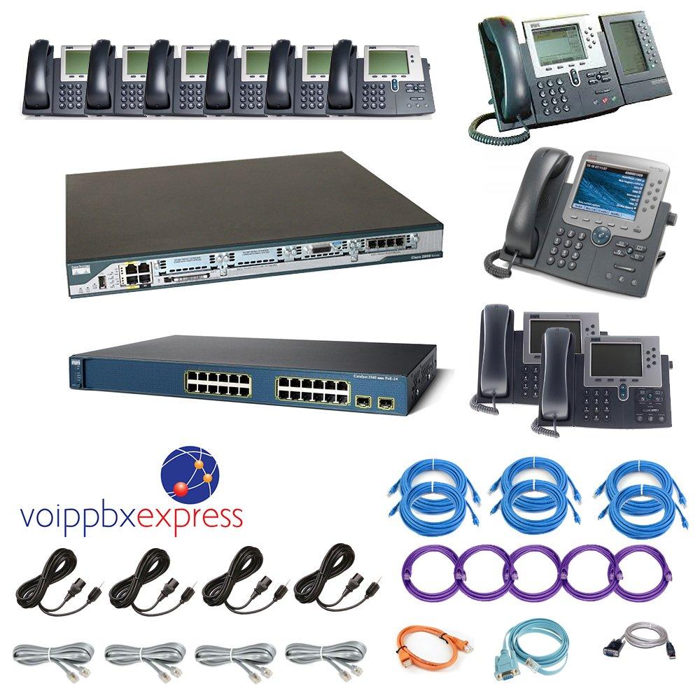 Amazon com : Cisco Advanced 10 Phone System VoIP PBX - Configured AA