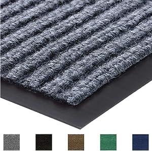 Gorilla Grip Original Commercial Grade Rubber Floor Mat, 72x24, Heavy Duty, Durable Runner Doormat for Indoor and Outdoor, Waterproof, Easy Clean, Low-Profile for Entry, Patio, High Traffic, Gray