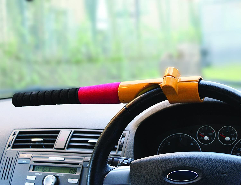 Green Baseball Lock Car Truck Anti-theft Steering Wheel Security Lock Heavy Duty