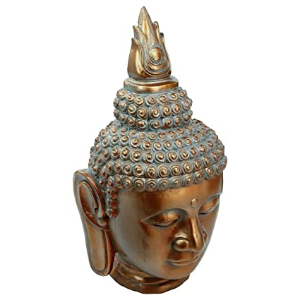 Atmosphera Estatua Cabeza de Buda – H. 65 cm – Cobre