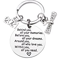 CDLong Class of 2021 Graduation Keychain - Senior 2021 Graduation Gifts for Her/Him, Inspirational Gifts for College…