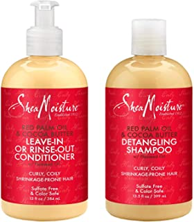 product image for Shea Moisture Shampoo & Conditioner Set Red Palm Oil & Cocoa Butter, Rinse Out Or Leave In, 13.5 Ounce Each