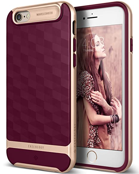 promo code c034b a5ed2 Caseology Parallax for iPhone 6S Case (2015) / iPhone 6 Case (2014) - Award  Winning Design - Burgundy