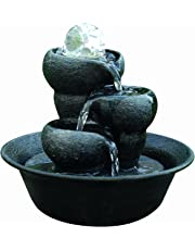 Triple Fall Magical Crystal Ball Indoor Water Feature