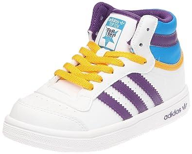 adidas Originals Unisex Baby Top Ten Hi I Freizeitkleidung/Streetwear WHT/Blubir/NNY