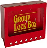 Brady Wall-Mount Group Lock Box for Lockout/Tagout, Small, 7'' Height, 8'' Width, 2-1/4'' Depth
