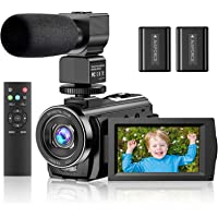 """Video Camera Camcorder YouTube Vlogging Camera FHD 1080P 30FPS 24MP 16X Digital Zoom 3"""" LCD 270 Degrees Rotatable Screen…"""