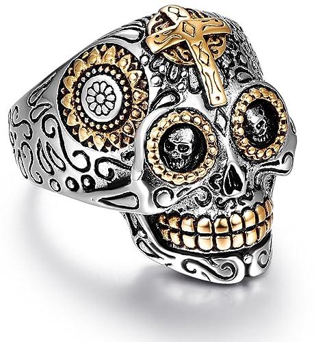 Sugar Skull Rings for Men Women 3723685066