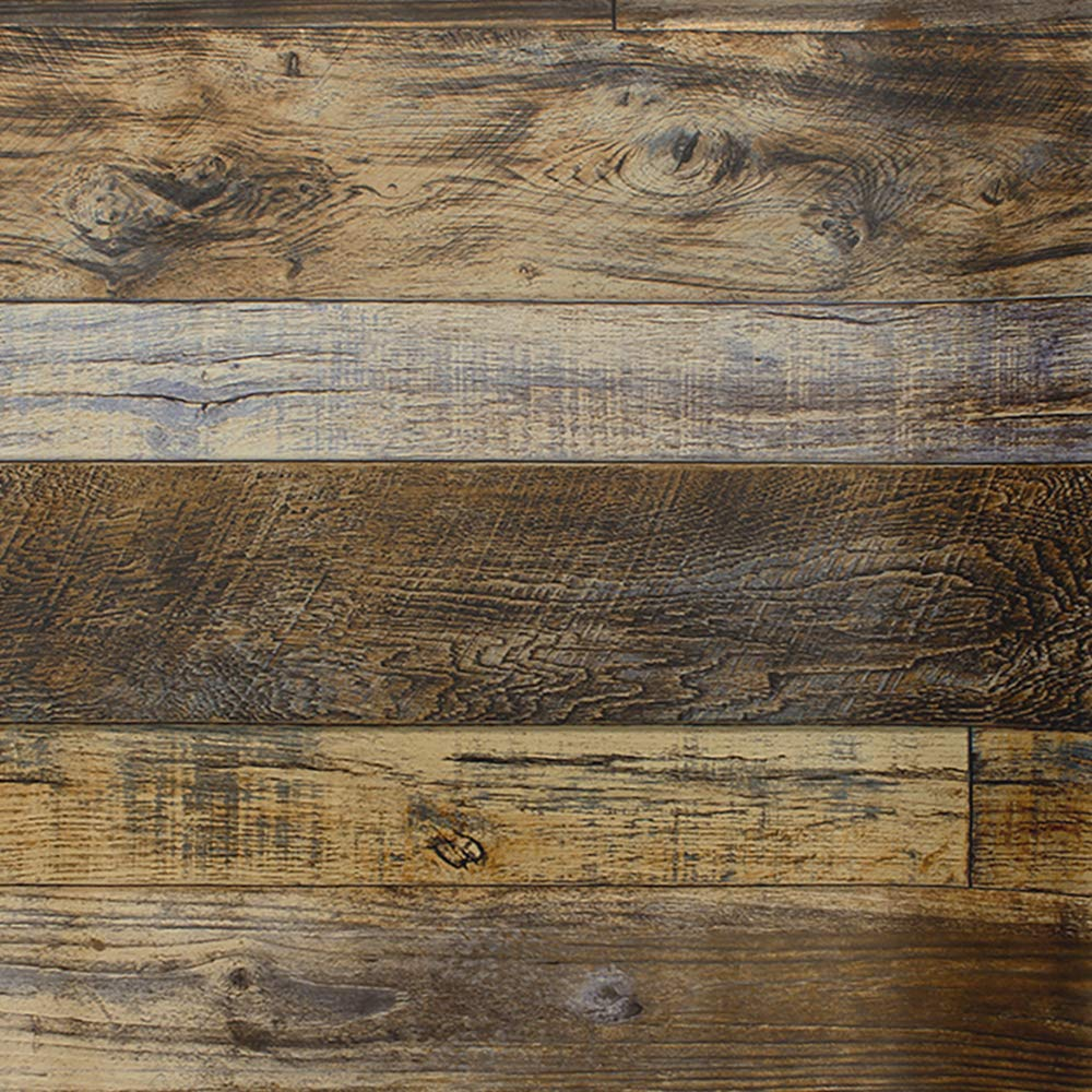 "MS magic 17.7""X118"" Distressed Wood Wallpaper Vinyl Film Self Adhesive Removable Wallpaper Stick and Rustic Wood Wallpaper Wall Desk Shelf Drawer Liner Brown Covering Paper Vinyl Roll"