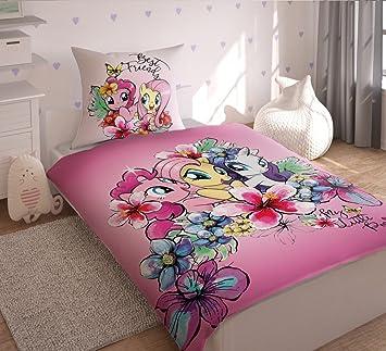 Hasbro My Little Pony Bettwäsche Bettbezug Single Baumwolle Blau
