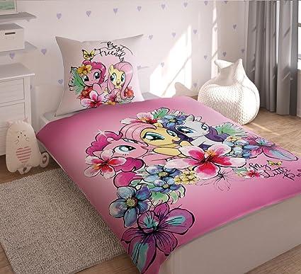 Lenzuola My Little Pony.Hasbro My Little Pony Biancheria Da Letto Set Singolo In Cotone Colore Blu 160 X 200 Cm 2 Unita