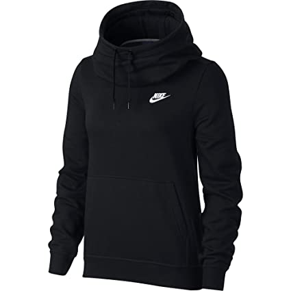 85e4e73a05 Amazon.com  NIKE Sportswear Women s Funnel-Neck Hoodie  Sports ...