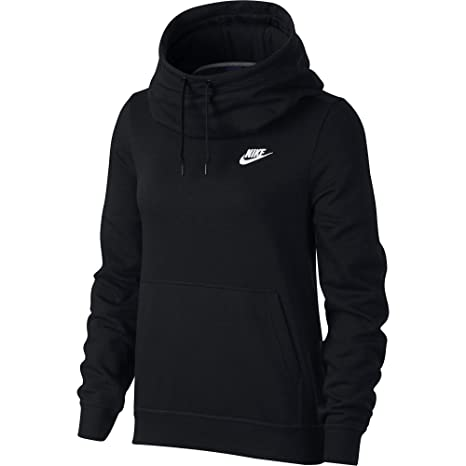 56646eec740e Amazon.com  NIKE Sportswear Women s Funnel-Neck Hoodie  Sports ...