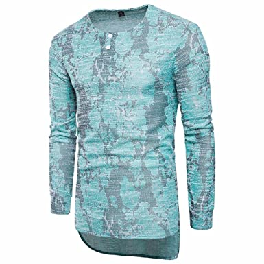2359c428e09e Amazon.com  Elogoog Fashion Mens African Print Tee Shirt Slim Fit Causal  Long Sleeve Button Shirt  Clothing