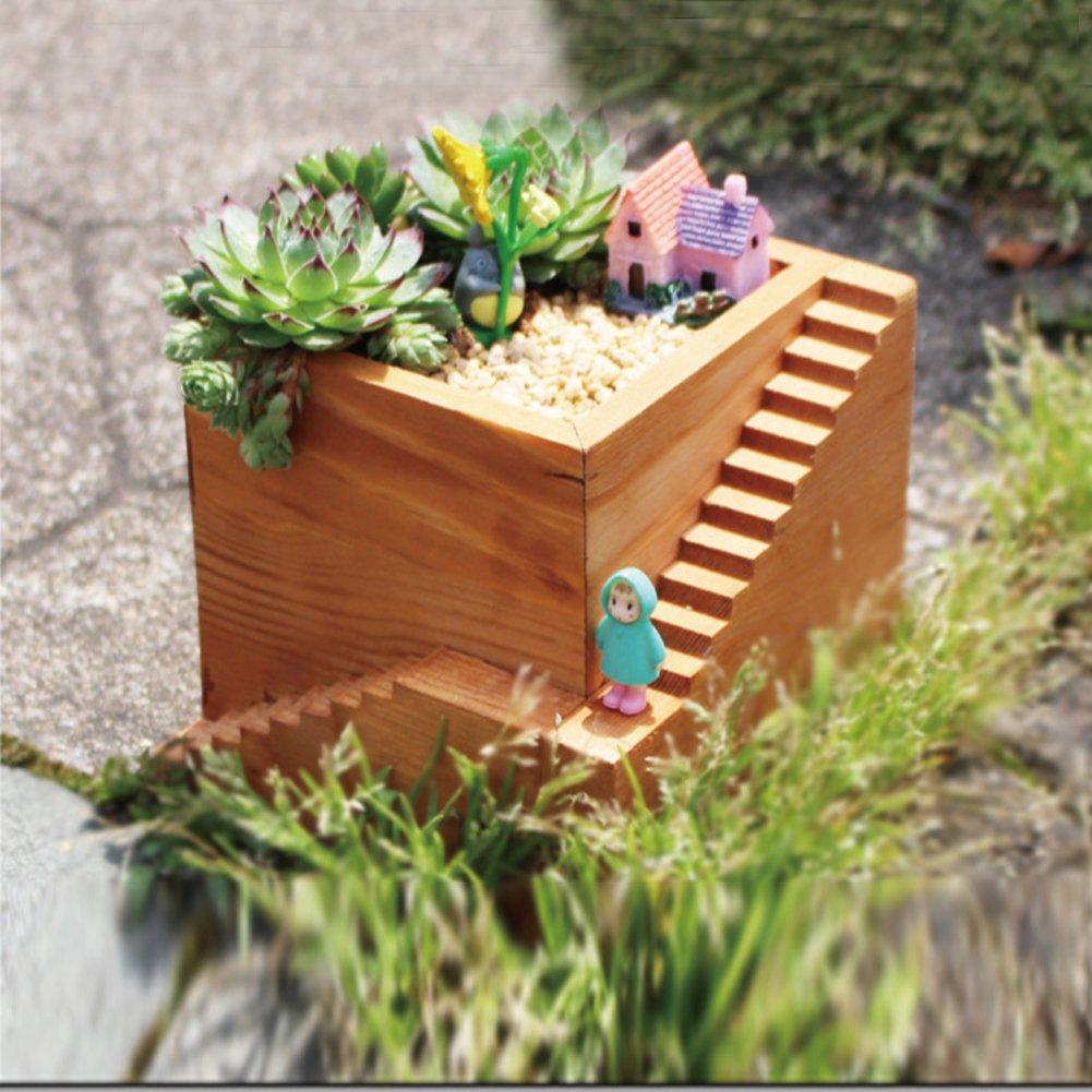 アンティーク 木製プランター