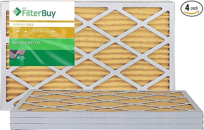 Platinum FilterBuy 18x36x1 MERV 13 Pleated AC Furnace Air Filter, Pack of 2 Filters 18x36x1