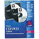 AVERY 5697 Laser CD Labels, Matte White (Pack of 250)