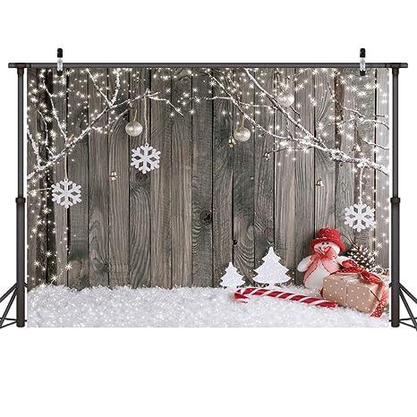Sfondi Natalizi Eleganti.Lywygg 7x5ft Buon Natale Sfondo Natale Pavimento Di Neve Foto Sfondi
