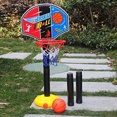 Lacegre Children Sports Basketball Stand Loop Adjustable Lifting Indoor Outdoor Toys Toy Basketball: Home & Kitchen