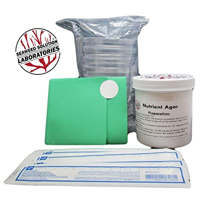 Nutrient Agar Kit, Includes Sterilized Container of Nutrient Agar 300ml, 10 Sterile Petri Dishes with Lids & 10 Sterile Cotton Swabs: Toys & Games
