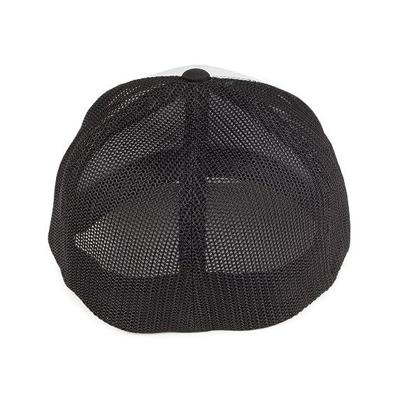 eeb563443d0895 Village Hats Flexfit White Front Trucker Cap - Black/White 1-Size:  Amazon.co.uk: Clothing