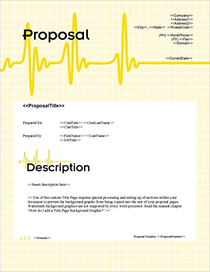 Amazon proposal pack healthcare 1 business proposals plans proposal pack healthcare 1 business proposals plans templates samples and software accmission Choice Image