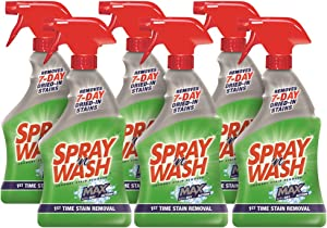 Spray N'Wash Max Laundry Stain Remover Spray Bottles, 6 Count (packaging may vary)