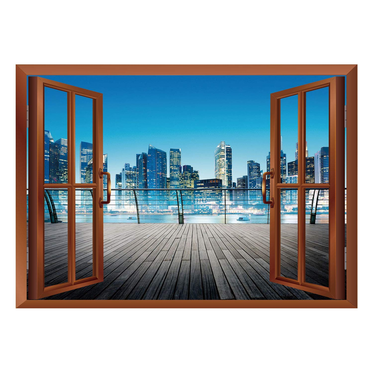 Amazon SCOCICI Creative Window View Home Decor Wall Décor