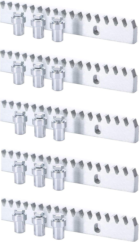 Pack cremallera acero estandar para motor corredera, compatible con cualquier motor del mercado, alta calidad, con separadores y tornillos de fijación mediante soldadura. (3 METROS): Amazon.es: Bricolaje y herramientas