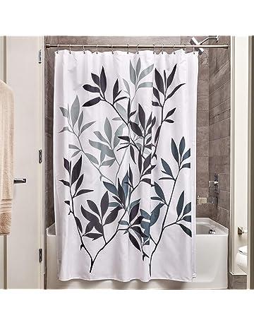 InterDesign 35623 Leaves Fabric Shower Curtain