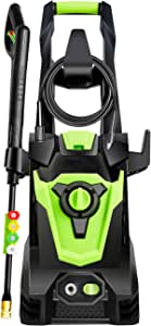 DuRyte 3500PSI 2.0GPM Electric Pressure Washer, Electric Power Washer with 4 Quick-Connect Spray Tips and Wand, Car Washer