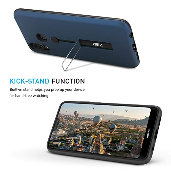 BEZ Funda Huawei P20 Lite - Finger Strap Ring Holder Cover for Huawei P20 Lite, Shock-Absorption Bumper and Anti-Scratch with Stand Function, ...