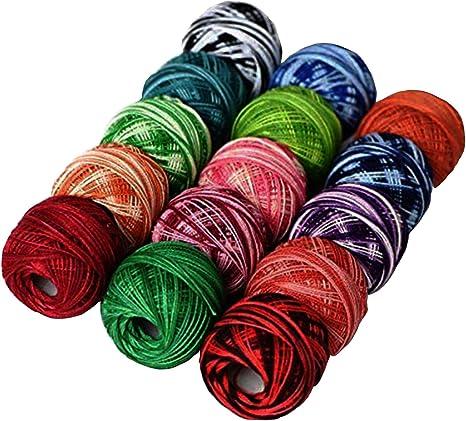 Le pavo real Teñido 9 G – Bolas de algodón, 1215Y, 15 bolas todos ...