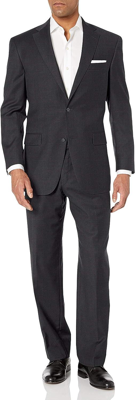 Hart Schaffner Marx Men's 2 Button Chicago Fit Suit with Flat Front Pant