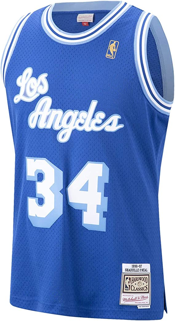 BCVDF Masculino Jerseys del Baloncesto Lakers # 34 Shaquille Oneal Jersey Cl/ásico C/ómodo Respirable Uniforme Unisex Ventilador S Yellow