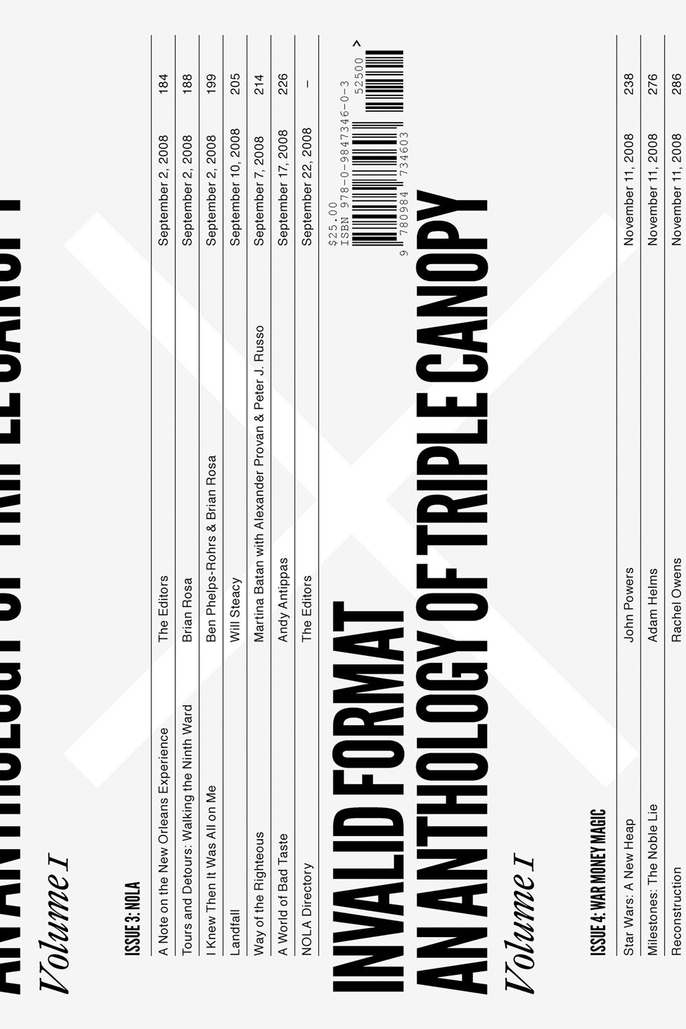Invalid Format An Anthology Of Triple Canopy Volume 1 By Peter J Russo Contributor Caleb Waldorf Alexander Provan Editor