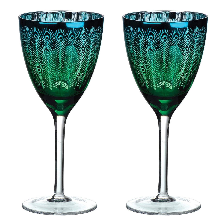 Artland deco Peacock Weinglas mehrfarbig 2er Set Farbe