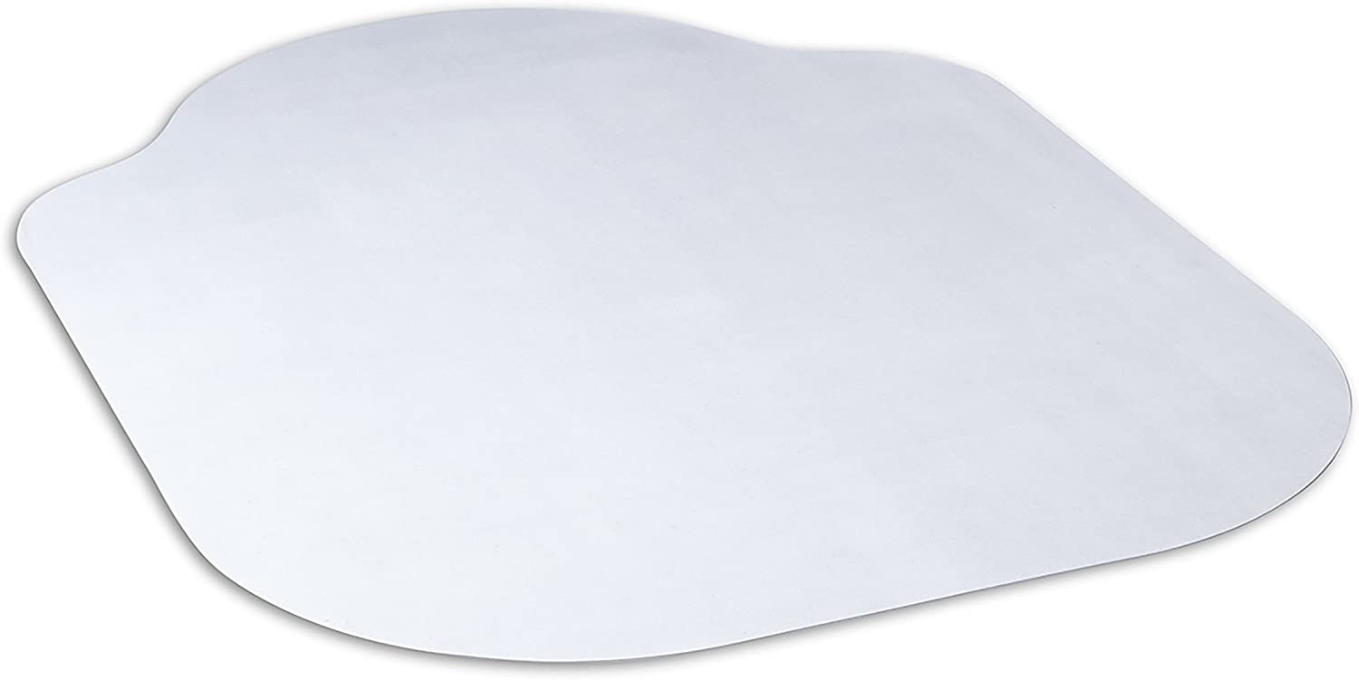 Evolve Modern Shape 33 x 44 Clear Office Chair Mat with Lip for Hard Floors, Made in The USA by Dimex 15B50630