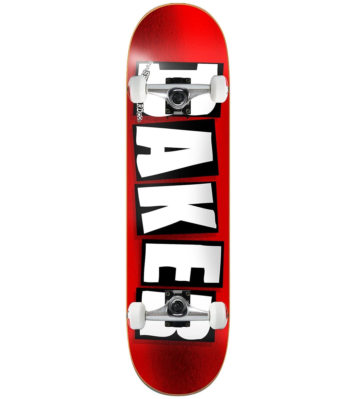 ベイカースケートボードCompleteブランドロゴ箔レッド8.5