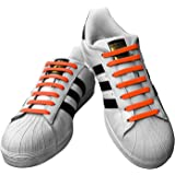 IOCSMART 伸びる靴紐 結ばない 防水 シリコン 靴ひも シューレース 大人 女性 男性 子供 専用 オシャレ くつひも靴ひもを結び付けることなく便利