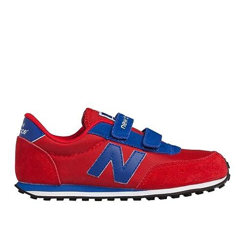 NEW BALANCE KL410 KIDS LIFESTYLE CORDÓN - Zapatillas de deporte para niño, color rojo, talla 38: Amazon.es: Zapatos y complementos