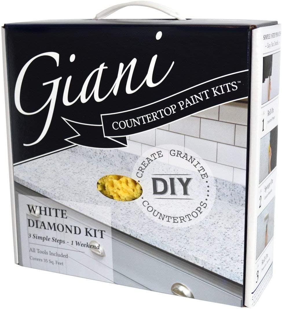 Giani White Diamond Countertop Paint Kit Amazon Com,What Is The Best Color For A Diamond