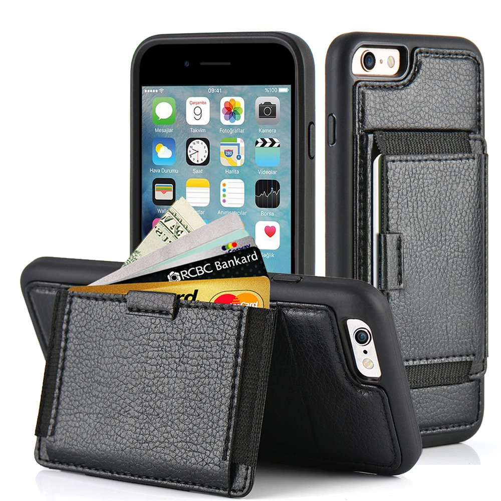 ZVE Kickstand Protective leather Pockets Image 1