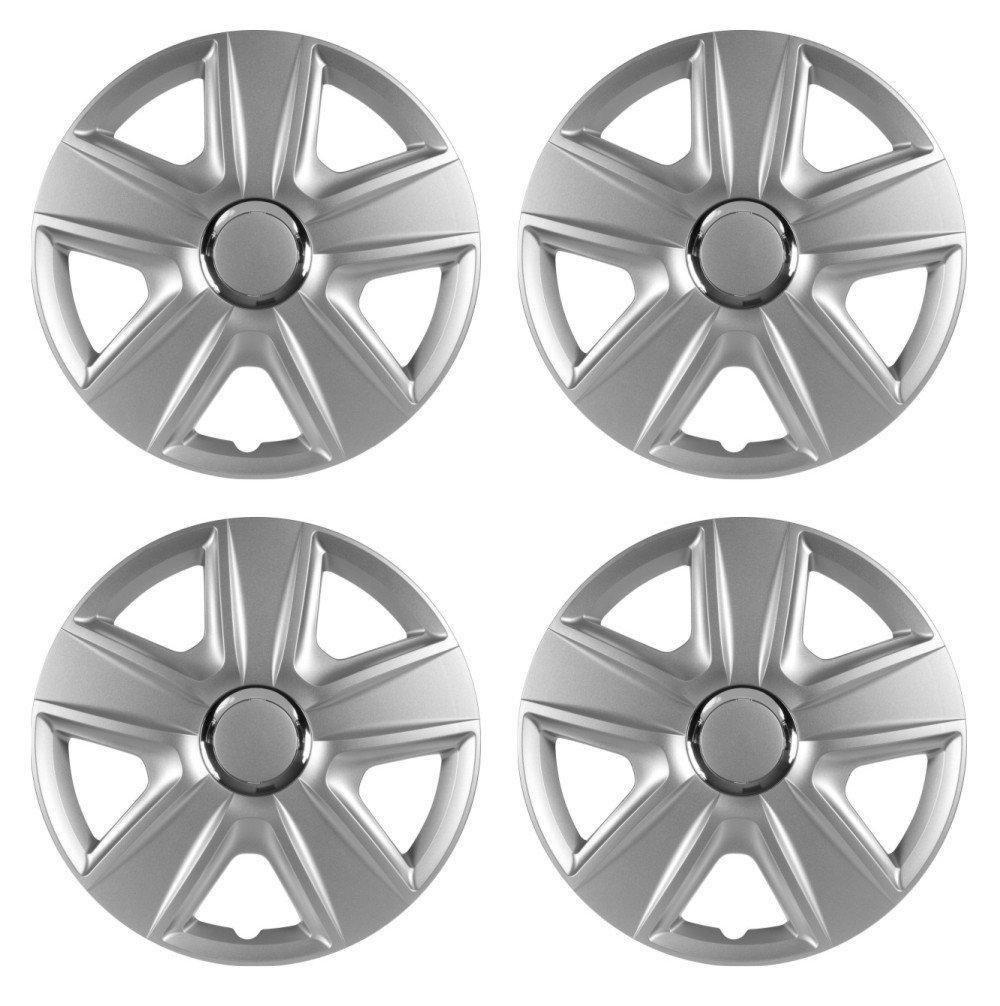 Set de alfombrillas de goma + Tapacubos Esprit Plata 16 para Dacia: Amazon.es: Coche y moto