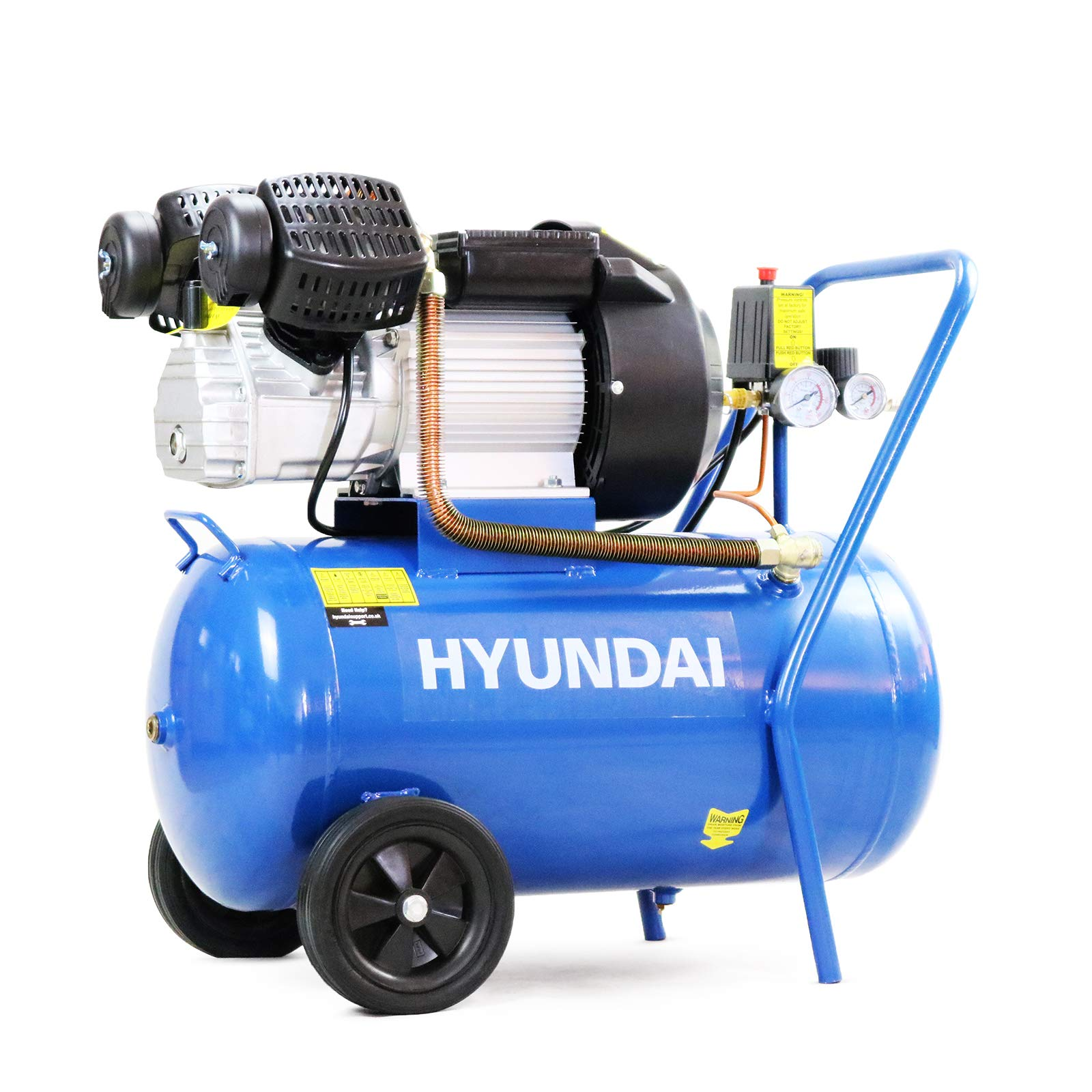 SwitZer Air Compressor 3HP 13CFM 100L Litre LTR 50HZ 230V 8 Bar Tank Twin Cylinder Pump with Wheel Handle SZ-AC-007 Grey