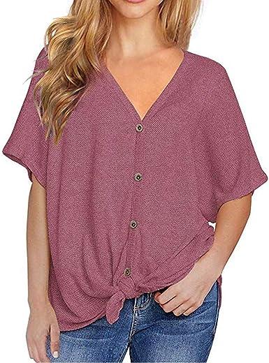 LRWEY Camisetas para Mujer, Verano Blusa Mujer Elegante ...