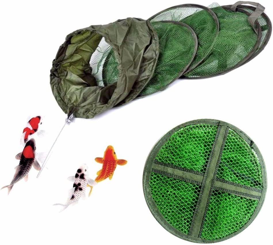 Fishing Net Cage 5 Layer Utility Folding Fish Care Creel Tackle Portable Fishnet